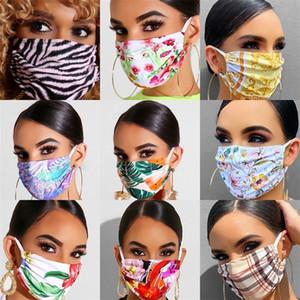 Моющееся ухо висячего Типа Mascarilla Ткань Ананас Цветы Защитной Mouth Респиратор пылезащитная маска для взрослых Использования Sports 6xqa B2