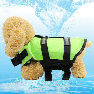 New Summer Dog Life Jacket Coat Vest Safety Swimsuit Lifesaver Preserver Swimsuit Pool Beach dog coat pet supplies will and sandy