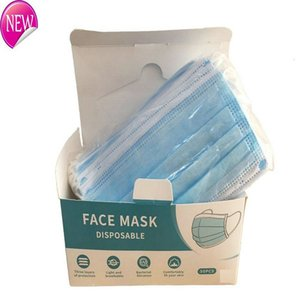 Free delivery 3-7 days to the United States disposable masks elastic earrings with 3 layers of breathable can block dust air pollution mask