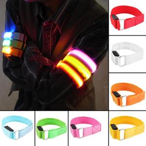 Arm Warmer Belt Bike LED Armband LED Safety Sports Reflective Belt Strap Snap Wrap Arm Band Armband
