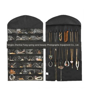 HMWwn 32 grid double-sided jewelry jewelry hanging bag watch small items 46x 81cm white and black rice 3 colors optional accessories watch a