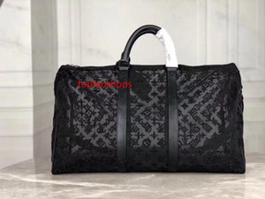 L KEEPALL Bags V Large Capacity Totes Men Travel Bag 50CM Perspective PVC Holdall Women Shoulder Duffel Bags Carry Luggage Handbag 53971