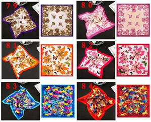 Diseñador de la manera del bolso de la manija bufanda de seda de las mujeres bolsa de asas de impresión Plazoleta bufandas variedad de colores completa Estilo de fábrica Mayorista