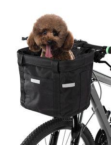 Pet Dog Cat Кролик Велосипед Фронт Перевозчик Сумка Корзина Puppy Small Animal Путешествие Отдых Холст сумка велобагажник сумка Рама сиденье
