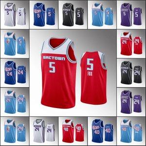 الرجال سكرامنتوالملوككرة السلة جيرسي De'Aaron فوكس بودي هيلد هاريسون بارنزالدوري الاميركي للمحترفين 2019-20 الفانيلة
