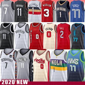 Luka Damian Lillard Doncic Kyrie Irving Kevin Durant Jersey Sion Lonzo Williamson bola CJ Carmelo 00 McCollum Nueva Orleans Net Blazer Pelican