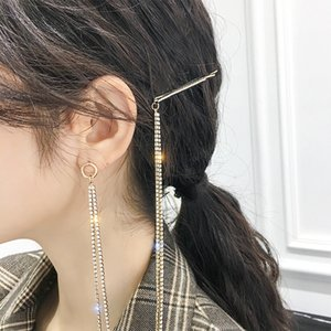 S925 Silver Pin Earrings Hairpin Brooch One-Piece Net Red Temperament Long All-match Earrings New Style Personalized Exaggerated Earrings