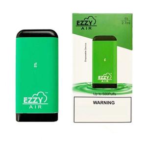 Ezzy Air-Einweg-Pod-Gerät Vape-Stift-System 500 Puffs vorgefüllt 2.7ml Auto Zeichnen E CIG-Kit 500mAh-Akku 8 Farben für die Auswahl
