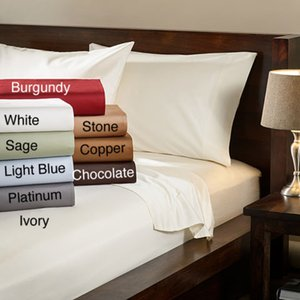 1500 Hilos egipcia calidad ultra la hoja de cama de lujo suave