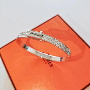 2020 Luxurious quality S925 pure silver bracelet with diamonds for women jewelry wedding gift free shipping PS5324