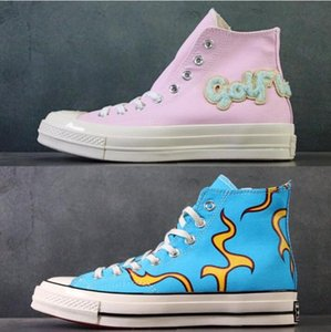 converse Golf Le Fleur x Chuck 70 1970s Chenille Flames Hi Men Women Star Skateborad Shoes Fashion GLF High Pink Blue Canvas CDG BIG EYES BOY esigners Sneakers