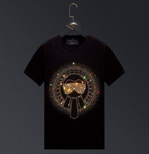 Hommes T-shirts Hot Drill T-shirt de grande taille Casual coton mercerisé T-shirt à manches courtes en vrac des vêtements décontractés