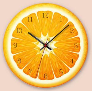 الفواكه الإبداعية جدار حائط الأحدث الديكور المنزلي الأزياء البرتقالية الجير Waterleom فاكهة الكيوي ساعات الحائط