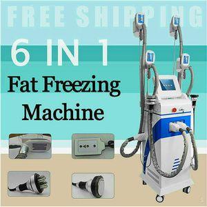 Popular 40Khz Cavitation Sixpolar Rf Lipo Liposuction Laser Best Cooling Freezing Fat Removal Cryo Slimming Machine