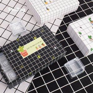 StoBag 10pcs Linha Grelha simples vento Packing Supplies Presente de casamento da festa de aniversário Box Box Handmade Biscoito Doce bolo pequeno