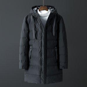 Inverno del cappotto del rivestimento Per nuovi uomini di Uomini Parkas lunghe in cotone Marca Bomber giacca spessa Parka Homme caldi Top 20 gradi Zipper cappotto