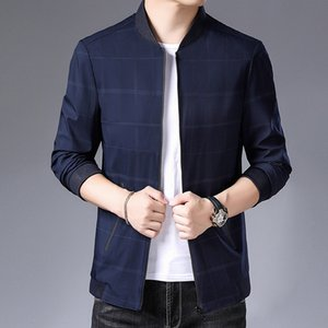 Jasht 2020 new Sleeve clip jacket men's long sleeve jacket youth fashion stand collar zipper coat batch