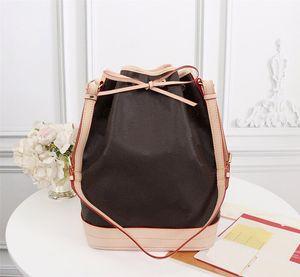 M42224 NOE Blumenmuster Frauen Handtaschen Art und Weise Totes Tunnelzug echtes Leder Material Blume klassische Damen Eimer Handtasche Tasche