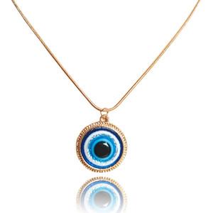 18MM بسيط الذهب الفضة الشر عيون قلادة الراتنج العيون الزرقاء المختنق قلادة التركية لاكي رمز عيون سحر مجوهرات اكسسوارات