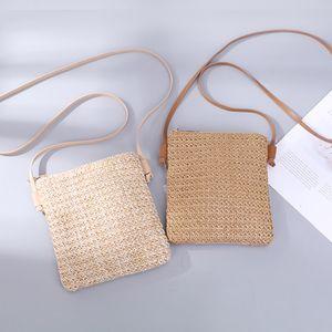 Новой мода хорошего качества Женской Стро Жгутого Small Square Сумка одно плечо Наклонных Across сумки сумки