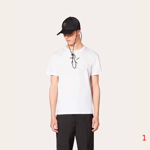 2020 Spring and Autumn Summer New Men's T Shirt Fashion 3D Printed Shirt Casual Tees Color Black White Size S-XXL