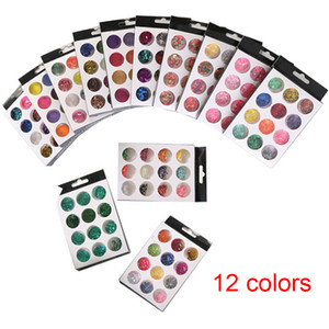 12 Boxes set Nail Dust Powder Laser Colorful Cute Fruit Clay Slice Nail Glitter Irregular Design Sequins For Nail Art Decoration Wholesale
