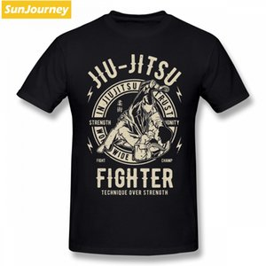 Jiu Jitsu Fighter Technique T Shirt Hot Selling Men's T-shirts O-neck Cotton Big Size Short Sleeve Custom Mens T Shirts