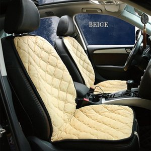 Fibra de Carbono Universal DC 12V Car Seat capa de almofada do assento inverno quentes tampa aquecida constante Intelligent Temperatura MBHA #