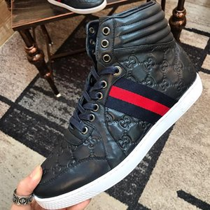 Men &#039 ;S Ace Signature High Top Sneaker Mens Shoes Luxury Outdoor Walking Breathable Shoes Lace -Up Fashion Casual Men Boots Manner Schu