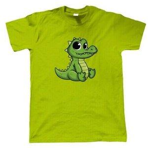 Bebê Croc, Mens T Shirt - Hatchling Crocodile Répteis Pet Ele Artista Convidado JG