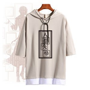 Sleeve Bungo Short Dogs Osamu Unisex T Costume Summer Hooded Tee Shirt Stray Cosplay Anime Tops Pullover Dazai Daily Fashion Ahtbp