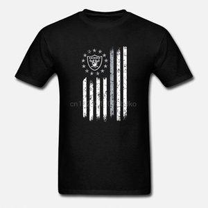 Raider Rugby Fútbol Americano Top del Camiseta de la bandera