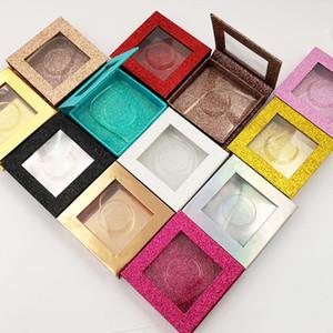 Brilhando pó Esvazie Caso Cosmetic Containers colorido brilhante pestana Linha de embalagem caixa de papel plástico Mat impressão de embalagens 3 7yeb C2