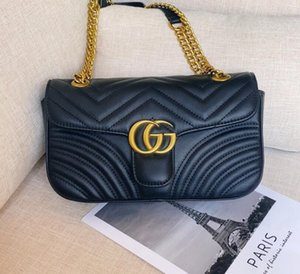 3 cores Mulheres ombro bolsas Gucci mulheres cadeia de bolsa crossbody moda acolchoado bolsas de couro feminino coração do famoso designer bolsa saco 20CM