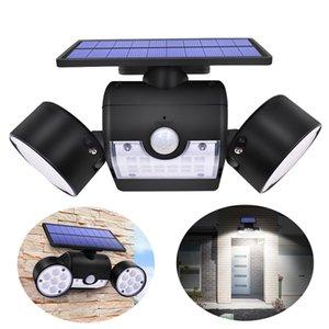 Açık Wall'un lambası Güneş LED Işık Hareket Sensörü Duvar Işıklar 30 LED IP65 su geçirmez Çift Kafa Ayarlanabilir Avlu Garaj Bahçe