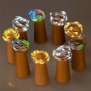 2M 20 LED Wine Bottle String Lights Cork Shaped Glass Stopper Lamp Christmas DIY