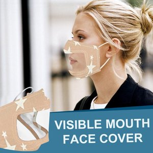 Smile Expression Face-mask See-through Facemak Hard Deaf Communicator Visible Scarf Window Clear For And With Of Hearing The Srohu