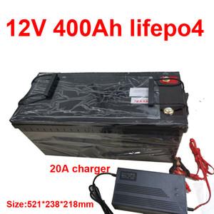 Wasserdichte 12.8V 12V 400Ah Lifepo4 Lithium-Batterie für Golf Carts Stromversorgung EV Solarspeicher Inverter Boot + 20A Ladegerät