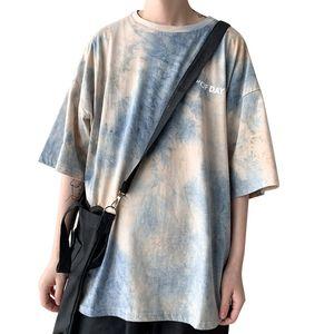 Hommes Harajuku Graphic T-shirts d'été Tie Dye japonais Streetwear T-shirt oversize vêtements coréenne Hip Hop