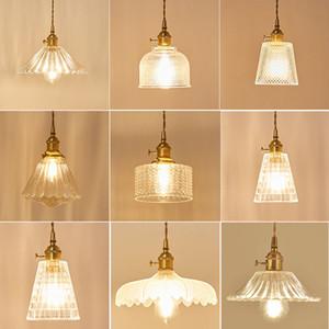 مصابيح حديثة قلادة ضوء الإضاءة نحاس زجاج Hanglamp E27 الصناعية قلادة مقهى تركيبات مطابخ ومينير الشمال مصباح