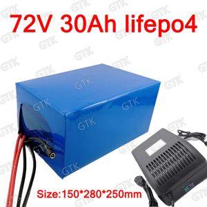 GTK litio 72V 30Ah lifepo4 batteria profondo ciclo con 50A BMS per 1500w 3000w moto motorino triciclo motociclo + caricatore 5A