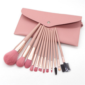 DHL Shipping 12pcs Per Set Makeup Brush Foundation Eye Eyelashes Make Up Brushes brocha de maquillaje Sets