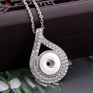 New Snap Button Necklace Jewelry Rhinestone Crystal Metal Snap Pendant Necklace for Women Fit DIY 20MM 18mm Buttons Jewelry