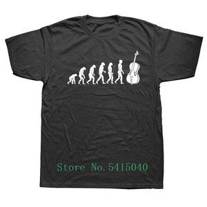 Weelsgao T قميص أزياء الرجال مضحك تطور التشيلو الكمنجة الكبيرة الموسيقى عازف التشيلو الموسيقى تي شيرت