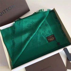 2020 classic seta verde sciarpe delle donne di modo sciarpe di seta primavera e l'estate scialli stampati 140 * 140cm consistenza di lusso
