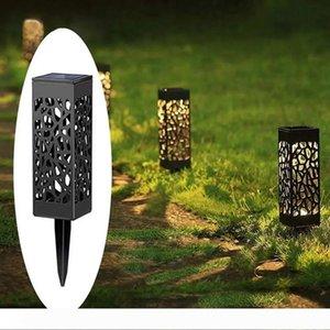 BRELONG Solar Power Light Sensor Hollow Out Lawn Lamp Waterproof Pathway Outdoor Garden Landscape Light White Warm White