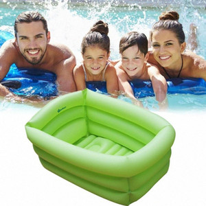 Inflatable Swimming Pool Portable Outdoor Children's Bathing Pool Rectangle Garden Party Indoor Inflatable Bathing Tub XPGt#