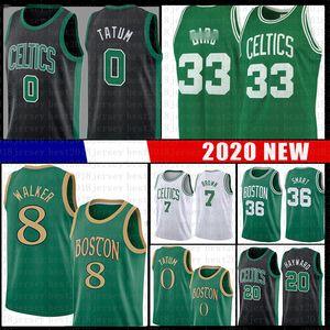 Kemba Walker 8 Jayson 0 Tatum Basketball Jersey jeunes hommes Larry 33 Jaylen Oiseau Brown Marcus Hayward Boston intelligentCeltics20