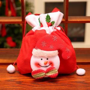 Reusable Christmas Bags Gift New Year Gifts Bags Christmas Tree Pattern Santa Claus Candy Bag Handbag Christmas Decoration Newst 7787 210