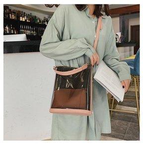 Transparent Bag 2020Spring and Summer New Girl's Beach Jelly Handbag Messenger Bag Plastic